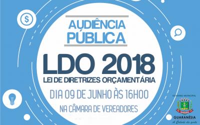 AUDIÊNCIA PÚBLICA PARA APRESENTAÇÃO DA L.D.O