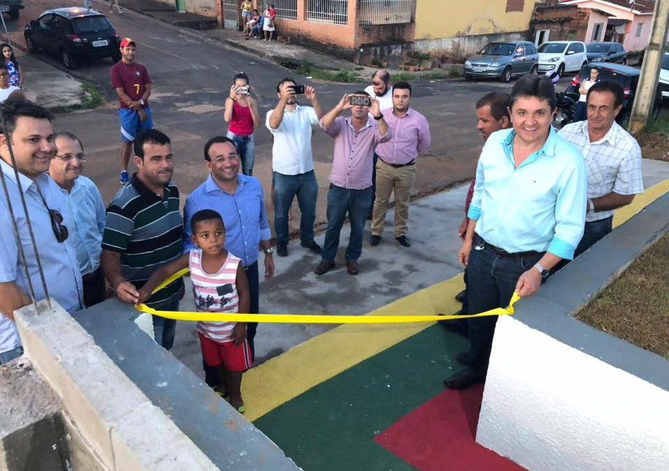 Inauguração Academia ao Ar Livre no Bairro Jardim Renovação III